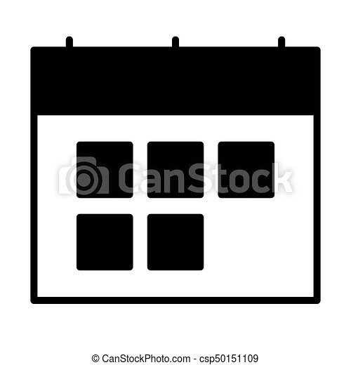 Simbolo De Calendario.Calendario Vettore Silhouette Icon Simbolo