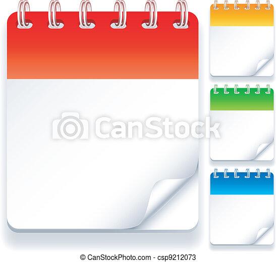 Calendars. - csp9212073
