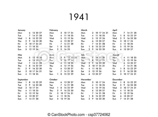 Calendrier 1941.Calendrier 1941 Annee