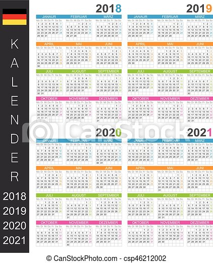 Calendrier Allemand 2020.Calendrier 2018 2021