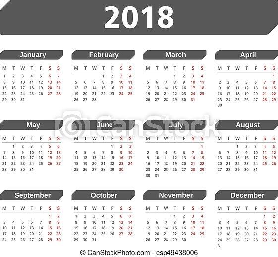 Kalender 2019 Veckor