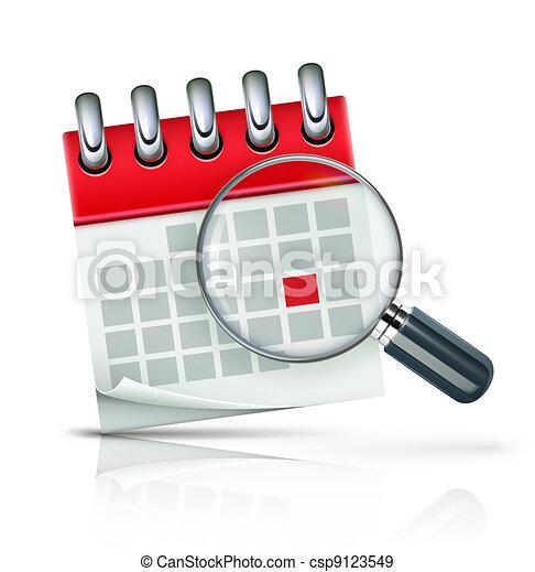 calendrier, icône - csp9123549