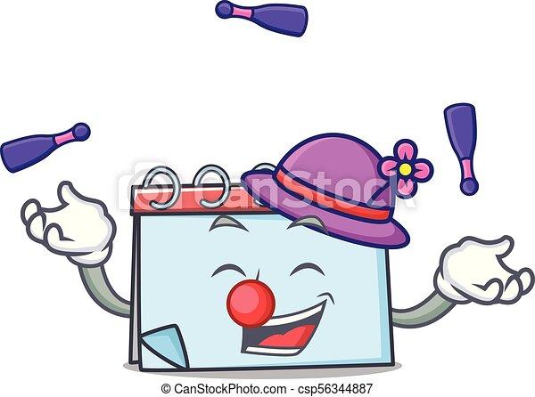 Calendrier Dessin Anime.Calendrier Mascotte Style Dessin Anime Jonglerie