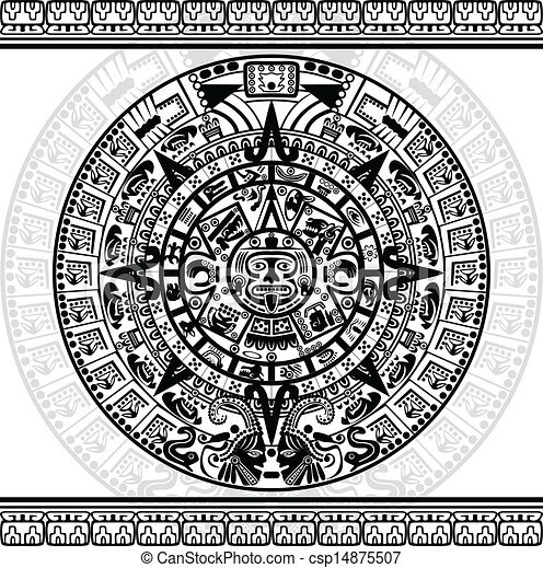 Calendrier Maya Dessin.Calendrier Maya