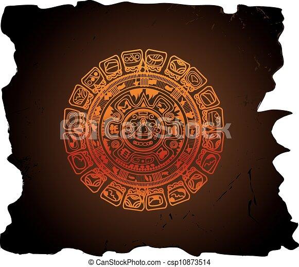 Calendrier Maya Dessin.Calendrier Maya Illustration