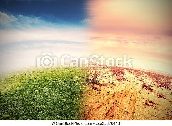 calentamiento del planeta - csp25876448