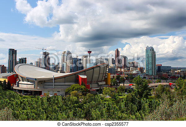 Calgary office buildings - csp2355577