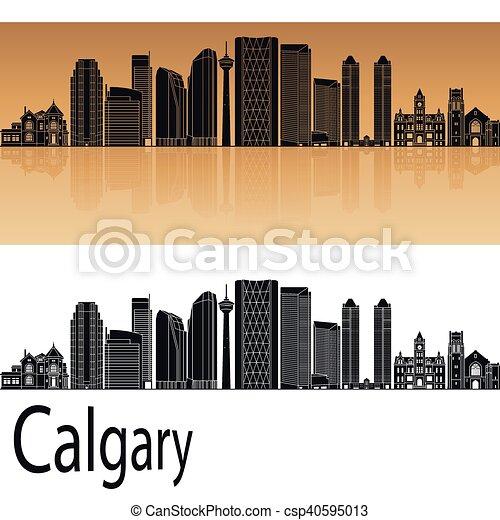 Calgary V2 skyline - csp40595013