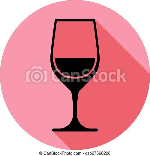 calice, illustration., classico, wineglass, romantico, sofisticato, idea., tema, vettore, appuntamento, elegante, vino, alcool - csp27568228