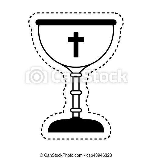 Calice Premier Communion Ic 244 Ne Illustration Calice