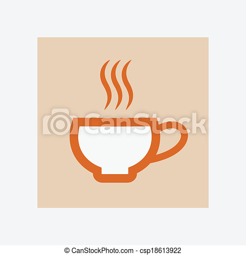 icono de taza caliente - csp18613922