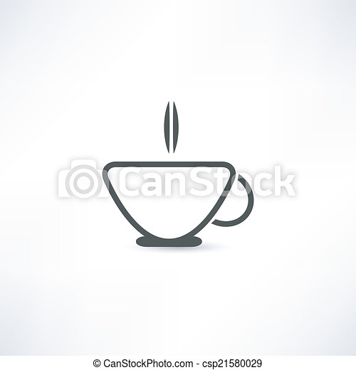icono de taza caliente - csp21580029
