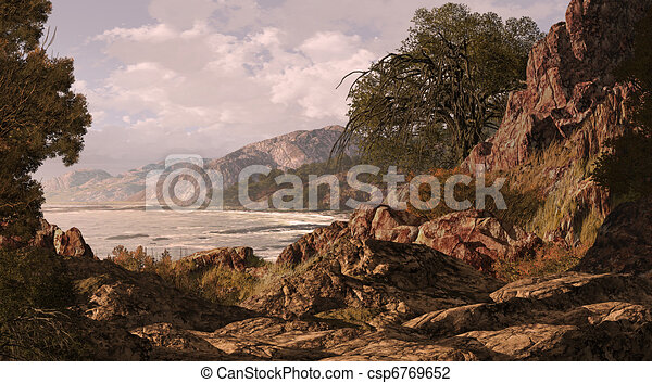 californië kust - csp6769652