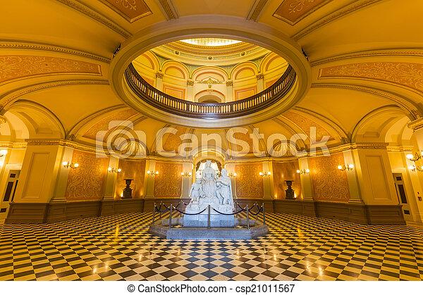 californië, rotonde, capitool - csp21011567