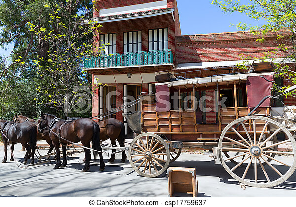 California Columbia a real old Western Gold Rush Town - csp17759637