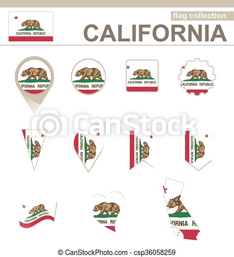 California Flag Collection 12 Versions