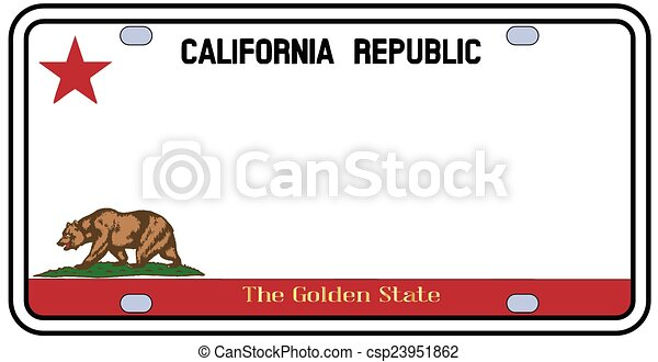 California License Plate - csp23951862