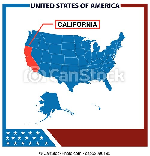 California map with american flag fram eps vectors Search Clip Art