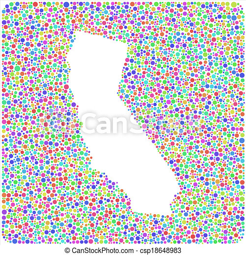 California Map Icon.California Outline In A Square Icon Map Of California Usa In A