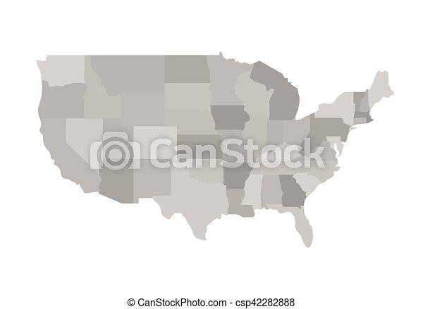 California outline map. Vector illustration.