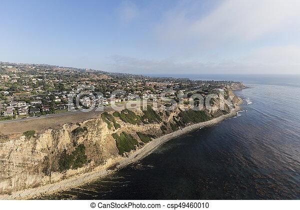 California Pacific Coast Aerial Rancho Palos Verdes - csp49460010