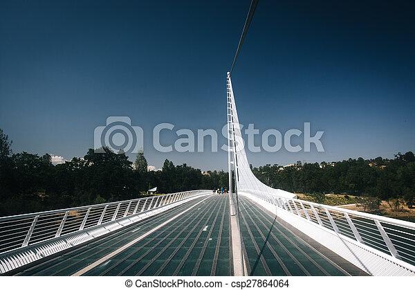 california., redding, pont, cadran solaire - csp27864064