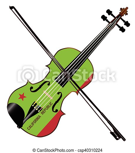 california state fiddle a typical violin with california vector rh canstockphoto com cat and fiddle clipart fiddle clipart black and white
