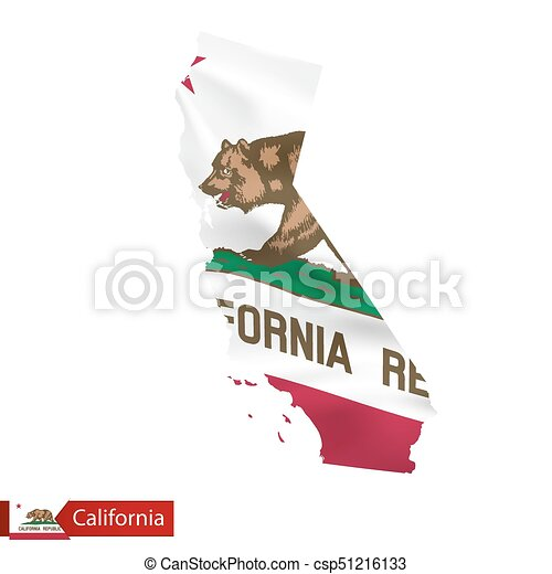 Official California State Flag Vector