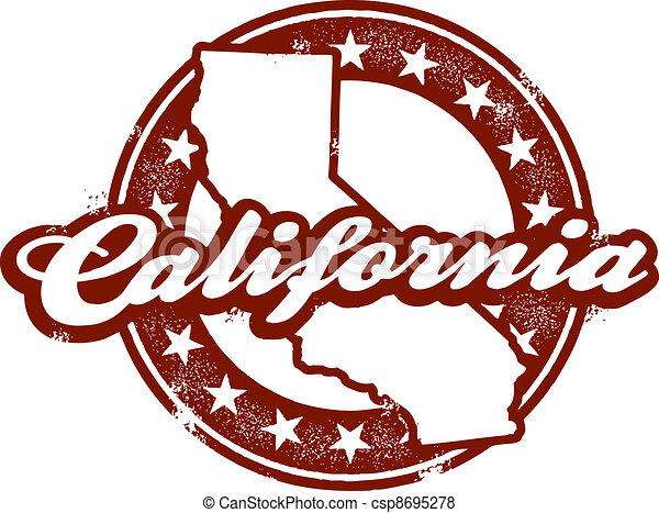 California state stamp a vintage style distressed for Designers art of california