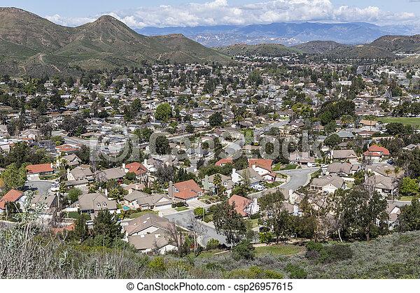 California Suburban Valley - csp26957615