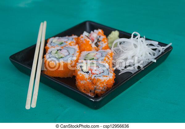 "Sushi nombre ""California"" - csp12956636"