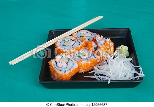 "Sushi nombre ""California"" - csp12956637"