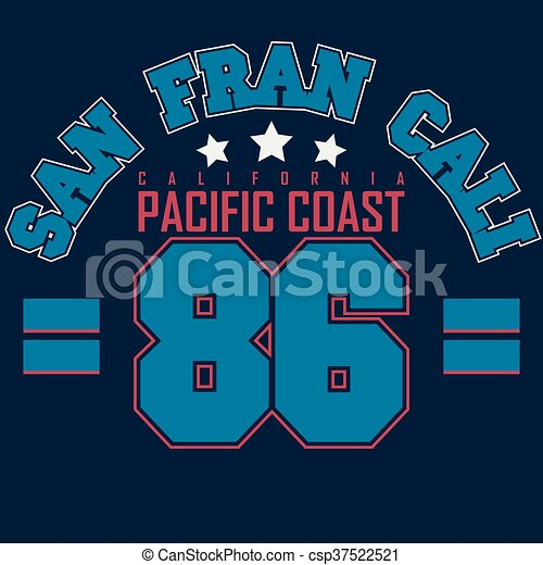 1281507a California t-shirt graphics. California sport wear typography emblem ...
