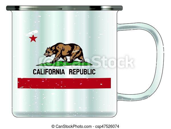 California Tin Cup - csp47526074
