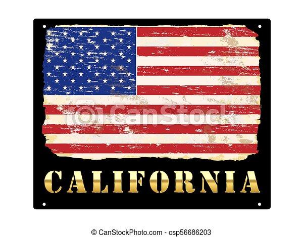 californie, or, émail, signe - csp56686203