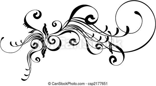 caligraphic ornament isolated vector design elements very vector rh canstockphoto com ornamental vector art ornament vector free