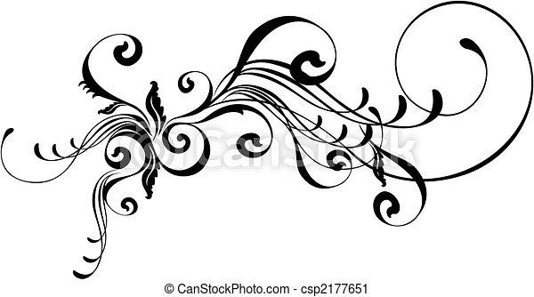 caligraphic, ornement - csp2177651
