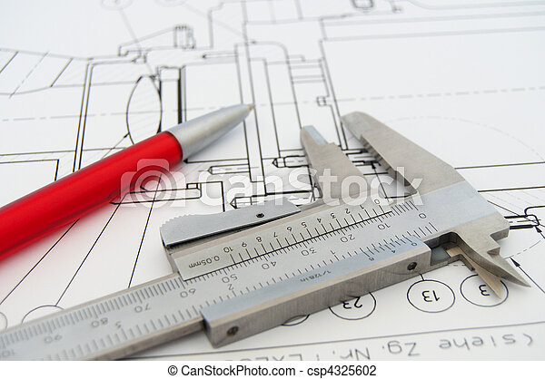 Caliper and Draw - csp4325602