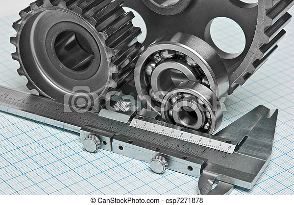 caliper with gears and bearings - csp7271878