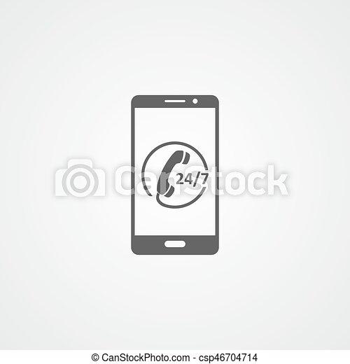Call Center Flat Vector Icon Customer Care Sign Customer Service
