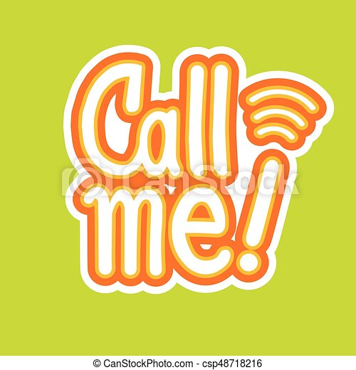 Call Me Sticker