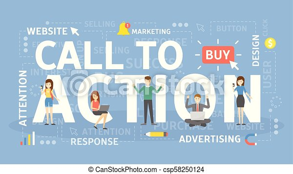 Call to action. - csp58250124
