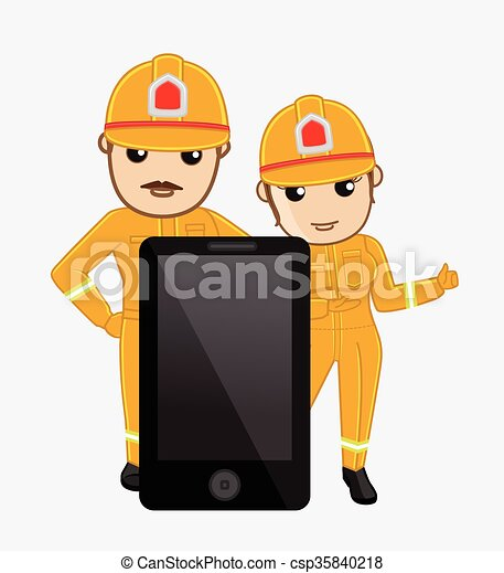 Call Us - Fire Brigade in Emergency - csp35840218