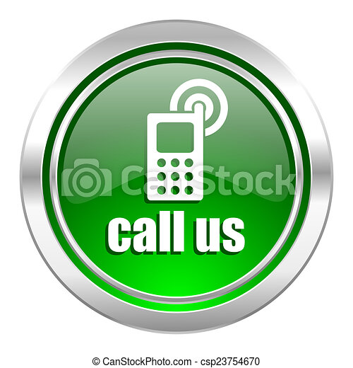 call us icon, green button, phone sign - csp23754670