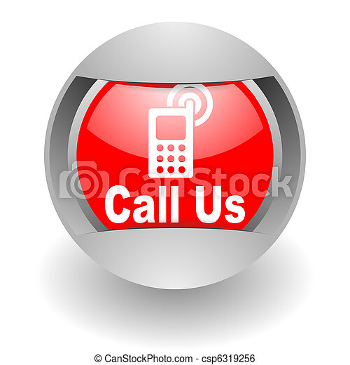 call us steel glosssy icon - csp6319256