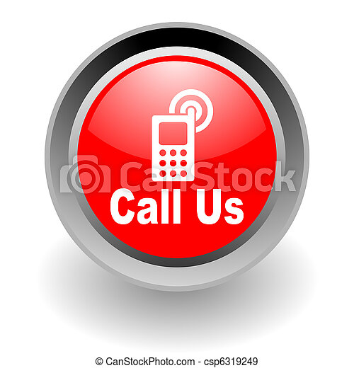 call us steel glosssy icon - csp6319249