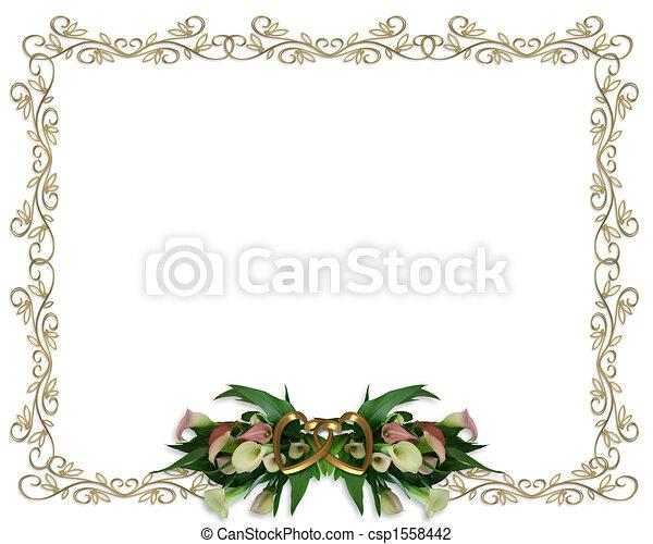 Calla Lilien, Hochzeitseinladung - csp1558442