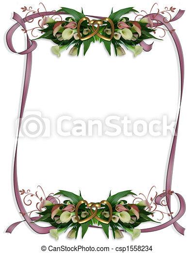 Calla Lilies Border Wedding invitation - csp1558234
