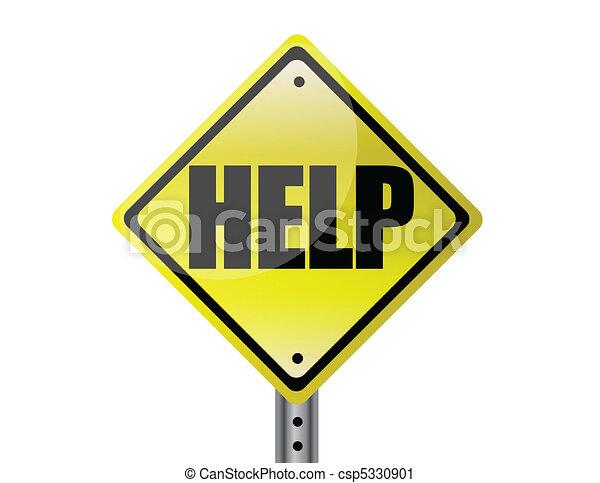 Ayuda a firmar en la calle amarilla - csp5330901