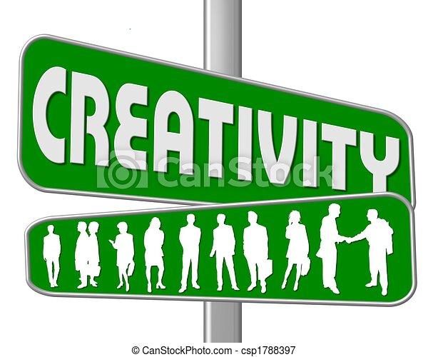 La calle firma creatividad - csp1788397